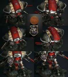 40k - Imperial Knight by Il Moro  - Wow that shield is awesome!