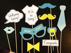 Photobooth accessoires pour babyshower garçon - Lot de 10 : Loisirs créatifs, scrapbooking par crea-graphic