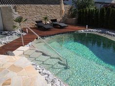 Swimming pond Basic - Garden design Zangl - Garten - Women's Need Natural Swimming Pools, Swimming Pools Backyard, Swimming Pool Designs, Pool Spa, Backyard Landscaping, Natural Pools, Indoor Swimming, Landscaping Ideas, Backyard Ideas