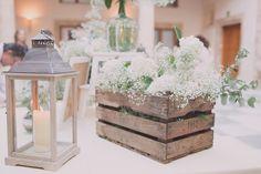 Flores y faroles boda