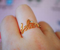 so pretty - maybe my signature instead of believe or my last name or my kids names... so many possibilities