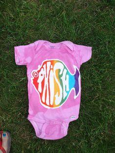 Phish Phans Batik Rainbow Fish Onesie>>> Got this for my baby niece<3