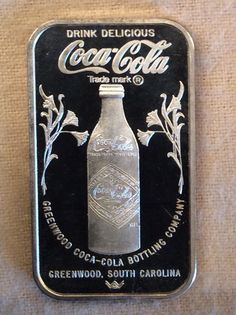 1979 Greenwood SC Coca Cola Sterling Silver Filled Anniversary Very Rare Silver Investing, Silver Bullion, Coca Cola, Anniversary, Sterling Silver, Bottle, Ebay, Coke, Flask