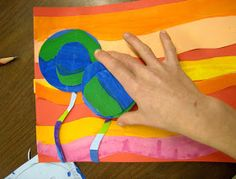 5th Grade Hundertwasser Flowers:  warm/cool as well as tints and shades