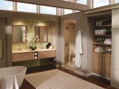 Grey Cabinets in Casual Kitchen - Kitchen Craft Cabinets Install Bathroom Sink, Bathroom Vanity Makeover, Kitchen Craft Cabinets, Kitchen Cabinet Styles, Bathroom Cabinets, Luxury Master Bathrooms, Upstairs Bathrooms, Bad Inspiration, Bathroom Inspiration