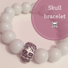 A personal favourite from my Etsy shop https://www.etsy.com/uk/listing/511525796/white-unisex-skull-bracelet
