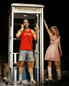 Cheyenne Jackson and Kerry Butler in Xanadu on Broadway.