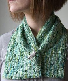 One Skein Botanical Cowl - free knitting pattern