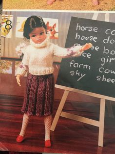 1960s .SIRDAR doll's knitting pattern book 117 GUYS & by weseatree