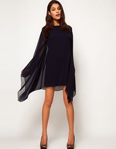 Enlarge ASOS Shift Dress With Draped Sleeves