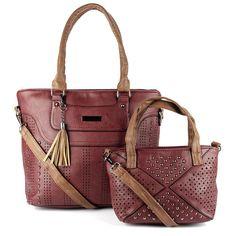 d3ce28109 Bolsa Feminina kit com 2 bolsas Alça Transversal e De Mão 4360#