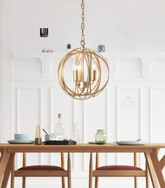 Make a statement in your home, office, or restaurant with the stunning Arbor modern hanging cage lamp.Made from painted metal.LED light bulbs not included. State Crafts, Cage Light, Kitchen Pictures, Kitchen Lighting, Dining Lighting, Office Lighting, Chandelier Lighting, Ring Chandelier, Chandeliers