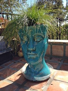 Ceramic Head Planter...this is so cool!