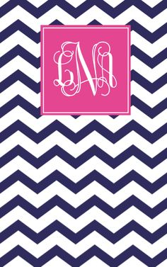 navy chevron with pink accent
