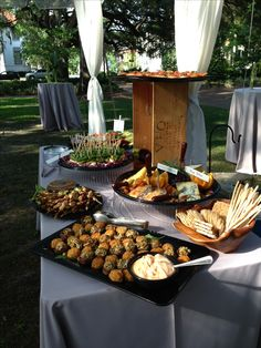 Part of the food display for a surprise birthday party for Jamie co-owner of local 1110! What an honor to be a part of this great event with Alysse Sweeney From Morgan Gallo Events. Catered by Thrive Catering, Savannah, Ga. Catering Food Displays, Cheese Table, Bbq Meatballs, Wedding Signs, Wedding Ideas, Pinterest Recipes, Corporate Events, Buffet, Table Decorations