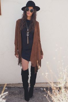 Ariella Suede Fringe Jacket - Haute & Rebellious