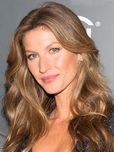 Fair skin: Gisele Bundchen's golden brown hair