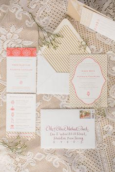 Coral infused invites by Paper Moss Photography by 1313 Photography / 1313blog.com/, Stationery by Paper Moss / papermoss.com #Invitations #Coral