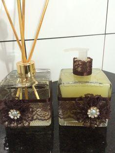 Jogo de aromatizador e sabonete líquido