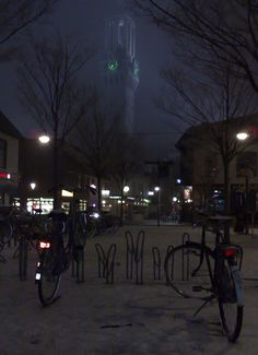 Stadhuistoren van Hengelo inde mist