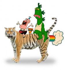 """""""Uncle Grandpa"""" Premieres Monday, September 2nd on Cartoon Network Uncle Grandpa Belly Bag Pizza Steve Gus Giant Realistic Flying Tiger"""