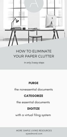 How to Elinimate Your Paper Clutter