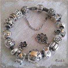 Capri Jewelers Arizona ~ www.caprijewelersaz.com  Oxidized two tone bracelet.