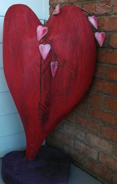 Carved log heart.