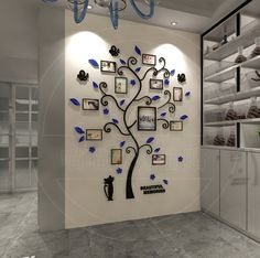 Acrylic crystal wall stickers living room bedroom cozy pictures tree stickers creative home decoration Living Room Bedroom, Home Decor Bedroom, Bedroom Wall, Floor Stickers, Wall Stickers, 3d Wall, Frames On Wall, Wall Art, Wall Decor