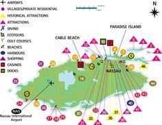 Nassau Bahamas Map / New Providence Map - Bahamas Vacation Travel Guide