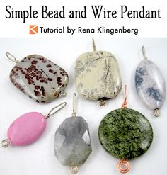 Jewelry Necklace Simple Bead and Wire Pendant Tutorial by Rena Klingenberg - Jewelry and Coffee with Rena Video Episode 13 by Rena Klingenberg. Watch me make this simple bead and wire pendant: The Secret of Why This Pendant Design Sells So Fast Put out a Wire Wrapped Jewelry, Wire Jewelry, Jewelry Crafts, Beaded Jewelry, Jewelery, Handmade Jewelry, Jewelry Storage, Dainty Jewelry, Boho Jewelry