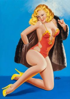 PETER DRIBEN - art for High-Heel Beauties - Feb 1947 Eyeful magazine