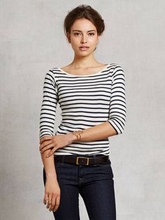 Classic Striped 3/4 Sleeve found on Zady -  Small Trades, sustainable local