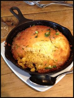 """Cornbread & pic of Cornbread by Todd English  """"Me and my chef James Klewin from the Olives Charlestown location were trying to come up with a really great cornbread, and this is the one we decided on. It has jalapeños in it to add a little heat."""""""