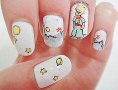 about book-smart manicures. People will think you're heading to fashion week instead of the library! The Little Prince and 18 more Must Have Literary Manicures via Buzz Feed Community. Mani Pedi, Pedicure, Hair And Nails, My Nails, Fall Nails, Funky Nails, Nail Envy, The Little Prince, Nail Artist