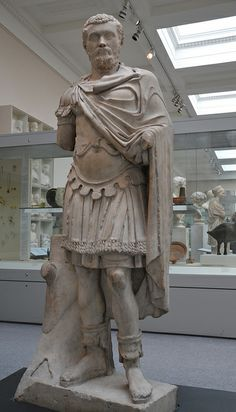 Marble statue of the Emperor Septimius Severus (ruled AD 193-211), from Alexandria (Egypt), about AD 193-200, Roman Empire, British Museum  ...