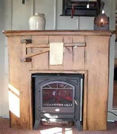 Blindsiding Tips: Concrete Fireplace How To Build fireplace winter baskets.Two Story Brick Fireplace fireplace hearth mid century.Fireplace Bedroom Log Homes. Primitive Homes, Primitive Mantels, Primitive Fireplace, Country Fireplace, Cottage Fireplace, Fake Fireplace, Concrete Fireplace, Farmhouse Fireplace, Electric Fireplace