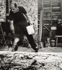 Jackson Pollock: Blind Spots exhibition at Tate Liverpool until October Image: Jackson Pollock 1950 Action Painting © 1991 Hans Namuth Estate. Action Painting, Drip Painting, Jackson Pollock, Wyoming, Atelier Photo, Pollock Paintings, Oil Paintings, Lee Krasner, Paul Jackson