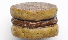 Chestnut chocolate cream biscuit