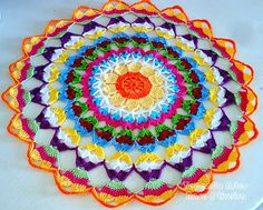Multicolor ganchillo tapete. Comentarios: LiveInternet - Russian Servicio Diarios Online