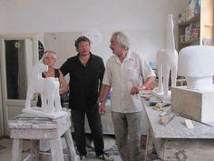 Op bezoek bij mijn vriend KOBE in Pietrasanta - art - sculptures - philip moerman - www.moermansculptures.be