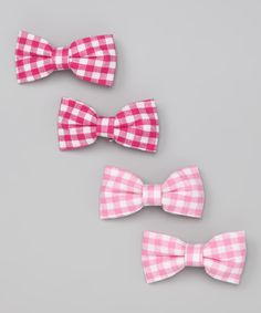 Additions to the favors?   Pink Gingham Bow Set from Bows and Barrettes  on #zulily