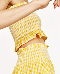 Image 6 of GINGHAM CHECK SKIRT AND TOP from Zara