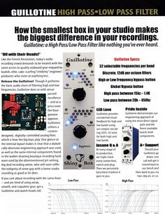 [Shinybox Microphones] Direct and trade show handout piece for Shinybox line of rack-mounted audio processors.