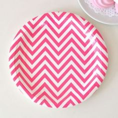 Chevron Hot Pink Party Pack by Illume Design - Bickiboo Party Supplies