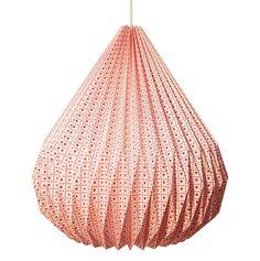 Papperslampa - My space - Röd - från Taj kr - Fröken Fräken Paper Folding Techniques, Paper Lampshade, Origami Lampshade, Origami Paper Folding, Paper Light, Pink Paper, Lamp Shades, Interior Lighting, Decoration