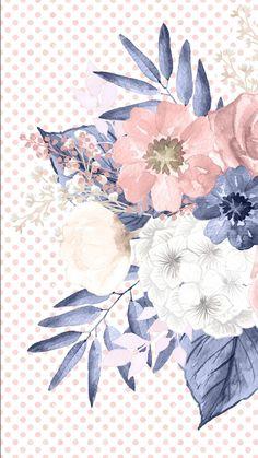 28 Ideas Wall Paper Iphone Watercolor Ipad For 2019 Monogram Wallpaper, Flowery Wallpaper, Pattern Wallpaper, Phone Backgrounds, Wallpaper Backgrounds, Wallpaper Iphone Disney, Vintage Flowers, Cute Wallpapers, Watercolor Flowers