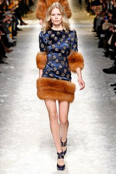 replace the fur by faux fur and this outfit is perfect. Blumarine | Fall 2014 Ready-to-Wear Collection | Style.com