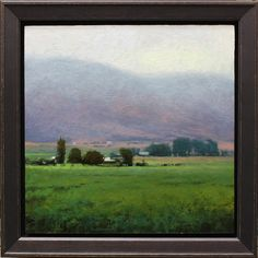 Verdant Valley, 10x10, oil on linen by Kevin Courter