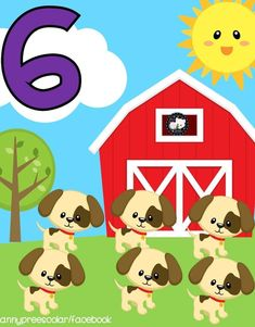 Learning Numbers, Math Numbers, Farm Animal Crafts, Farm Animals, Classroom Calendar, Classroom Decor, Professor, Educational Activities For Kids, Baby Learning